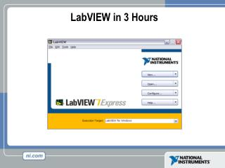 LabVIEW in 3 Hours