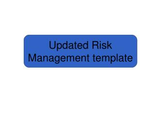 Updated Risk Management template