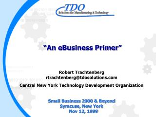 An eBusiness Primer