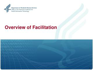 Overview of Facilitation