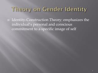 Theory on Gender Identity