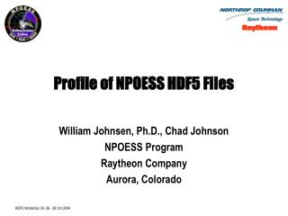 Profile of NPOESS HDF5 Files