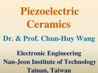Piezoelectric Ceramics