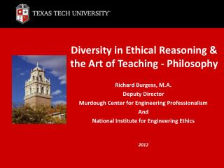 Diversity in Ethical Reasoning & the Art of Teaching - Philosophy