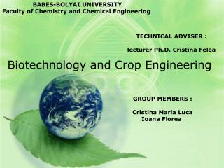 Biotechnology and Crop Engineering