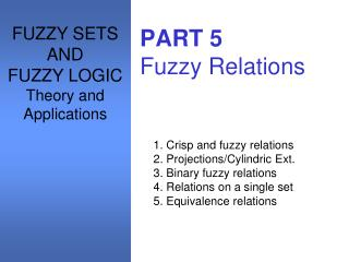 PART 5 Fuzzy Relations