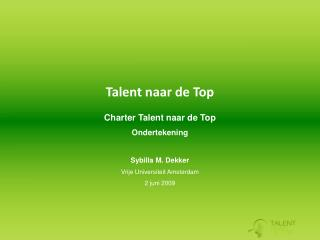 Talent naar de Top