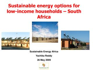 Sustainable energy options for low-income households – South Africa