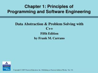 Chapter 1: Principles of  Programming and Software Engineering