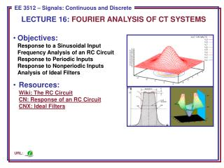 LECTURE  16:  FOURIER ANALYSIS OF CT SYSTEMS