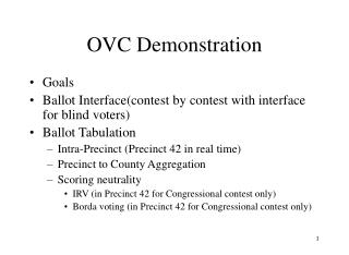 OVC Demonstration