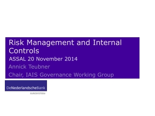 Good Governance in Risk Management -A Regulatory Perspective