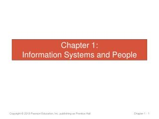 Chapter 1: Information Systems and People
