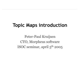 Topic Maps introduction