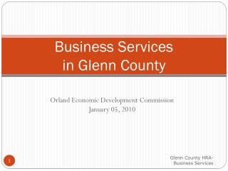 Business Services  in Glenn County