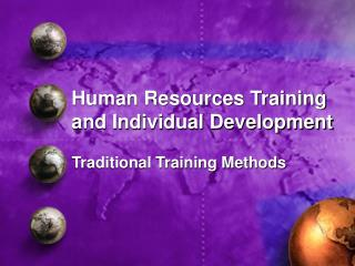 Human Resources Training and Individual Development