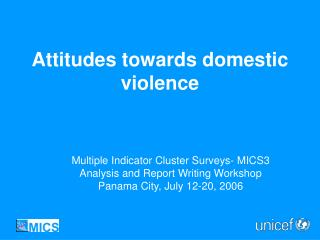Attitudes towards domestic violence