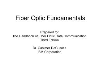 Fiber Optic Fundamentals