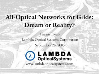 All-Optical Networks for Grids: Dream or Reality?