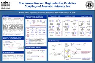 Chemoselective and Regioselective Oxidative  Couplings of Aromatic Heterocycles