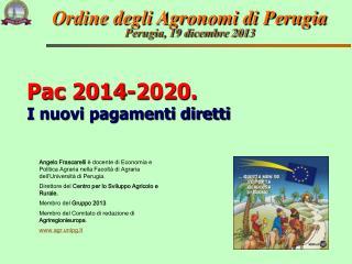 Pac 2014-2020. I nuovi pagamenti diretti