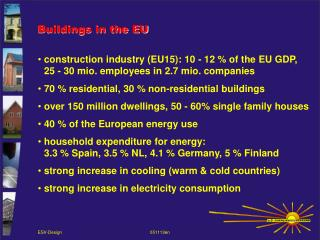 Buildings in the EU