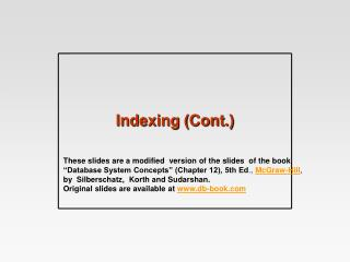 Indexing (Cont.)
