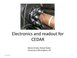Electronics and readout for CEDAR