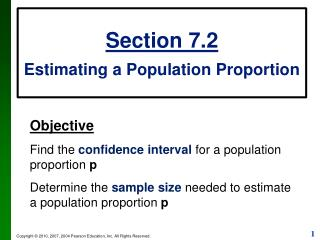 Section 7.2 Estimating a Population Proportion