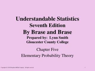 Chapter  Five Elementary Probability Theory