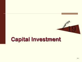 Capital Investment