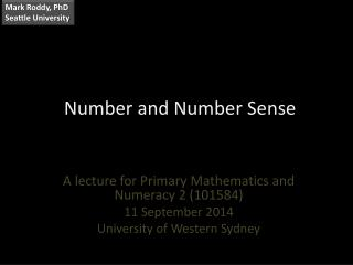 Number and Number Sense