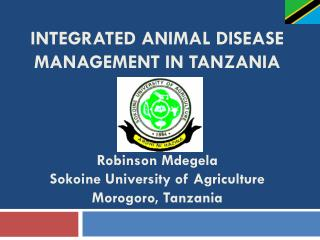 INTEGRATED animal DISEASE MANAGEMENT IN TANZANIA