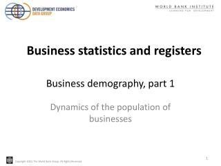 Business demography, part 1