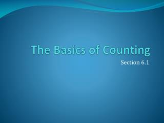 The Basics of Counting