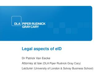 Legal aspects of eID
