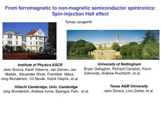 From ferromagnetic to non-magnetic semiconductor spintronics: Spin-injection Hall effect