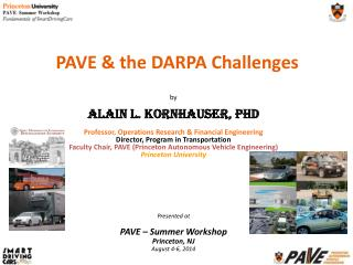 PAVE & the DARPA Challenges