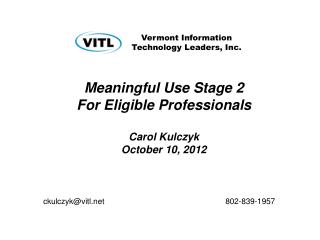 Vermont Information  Technology Leaders, Inc.