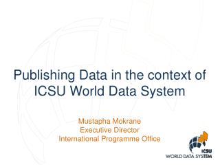 Publishing Data in the context of  ICSU  World Data System