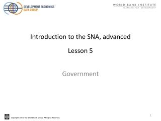 Introduction to the SNA, advanced Lesson 5