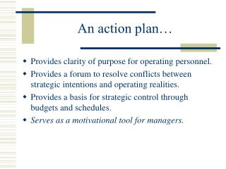 An action plan