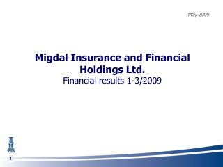 Migdal Insurance and Financial Holdings Ltd. Financial results 1-3/2009