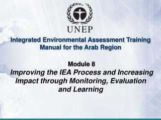 Integrated Environmental Assessment Training Manual for the Arab Region Module 8