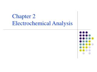 Chapter 2 Electrochemical Analysis