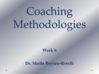 Coaching Methodologies