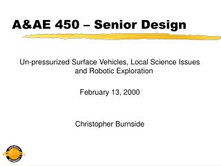 A&AE 450 – Senior Design