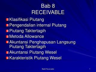 Bab 8 RECEIVABLE