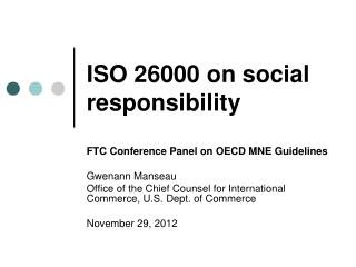 ISO 26000 on social responsibility