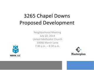 3265 Chapel Downs Proposed Development